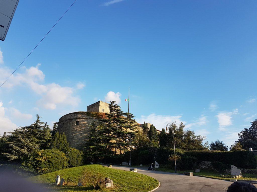 Trieste Estate il Castello di San Giusto, veduta