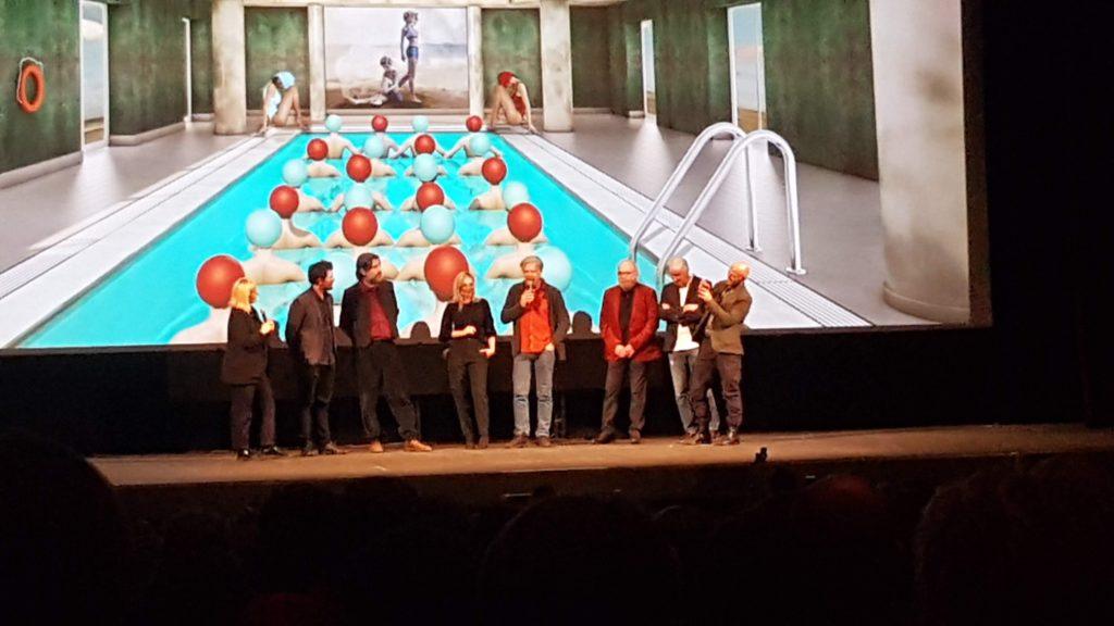 Paradise il cast sul palco de Il rossetti durante il Trieste Film Festival