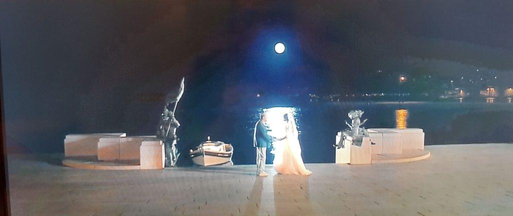 Trieste al cinema Scena romantica sulla scala dei Giganti
