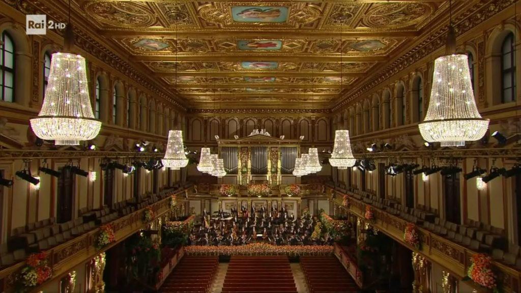 La Musikverein di Vienna vuota durante il concerto di Capodanno