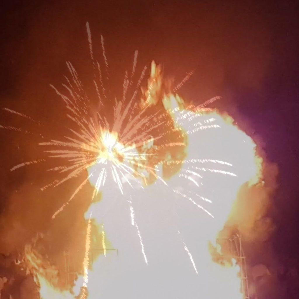 I fuochi d'artificio alla fine della Cabossa ad Aquileia