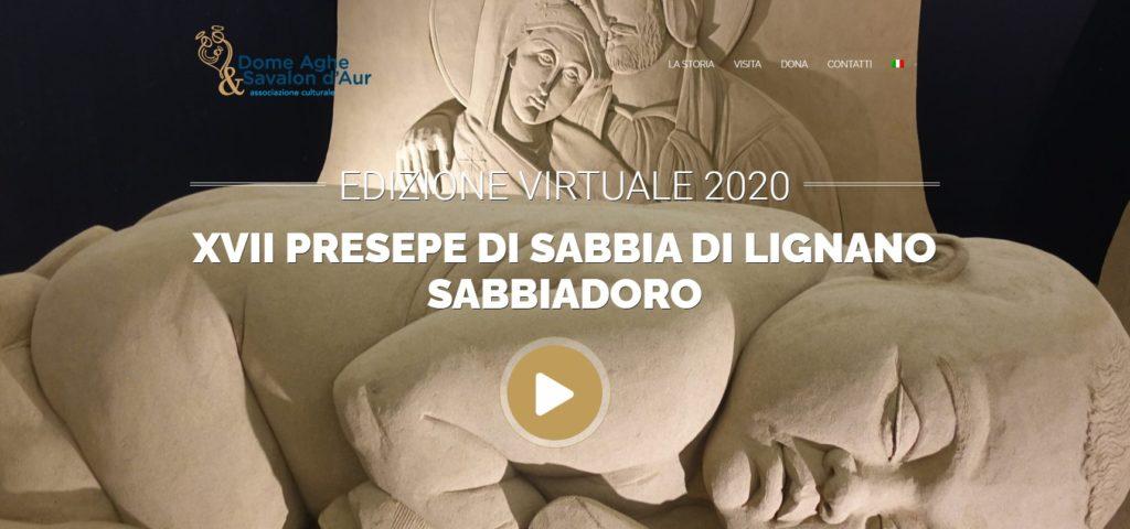 Screenshot presepe 17° presepe di sabbia Lignano