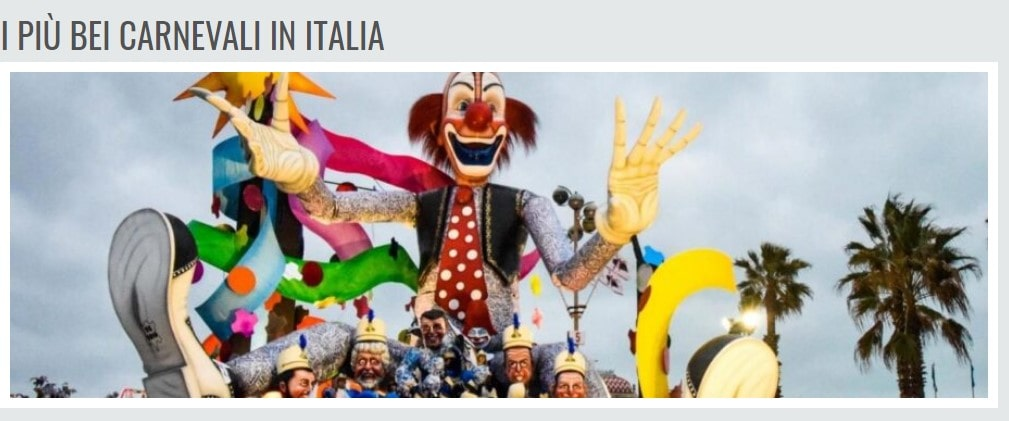 I più bei carnevali in italia e il Carnevale a Trieste