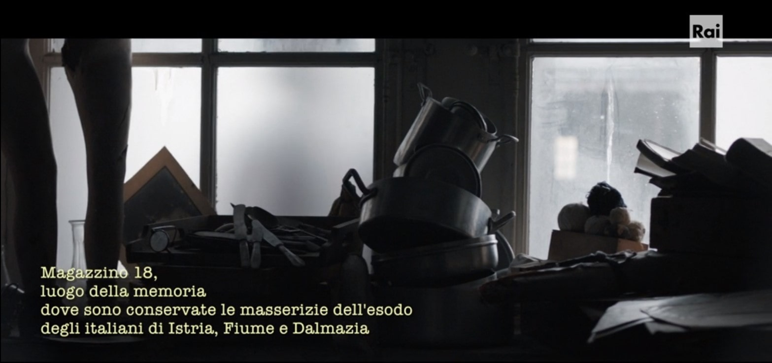 Terra rossa - trieste -Porto vecchio -Magazzino 18- masserizie