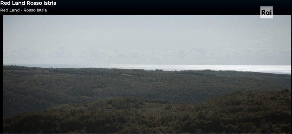Terra rossa-Panorama della Terra d'Istria dalle collina al mare