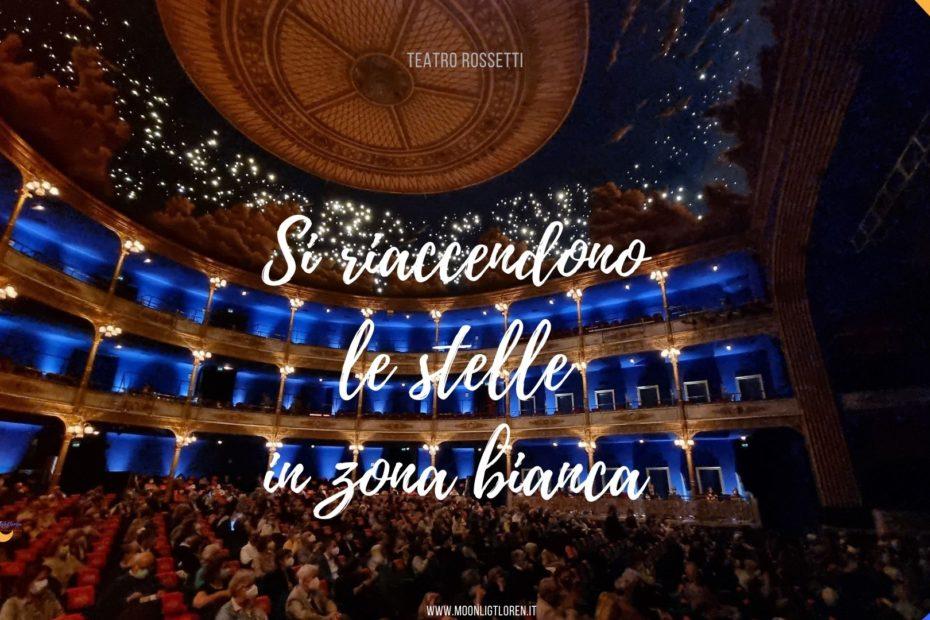 a Teatro al Rossetti nella prima giornata di zona bianca in Friuli Venezia Giulia